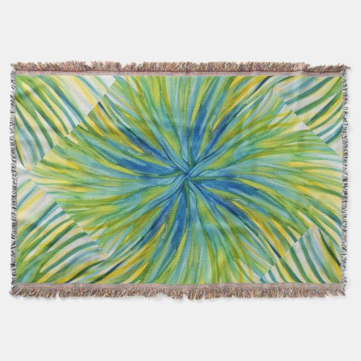 Palm Tree Abstract Watercolor Throw Blanket Zazzle