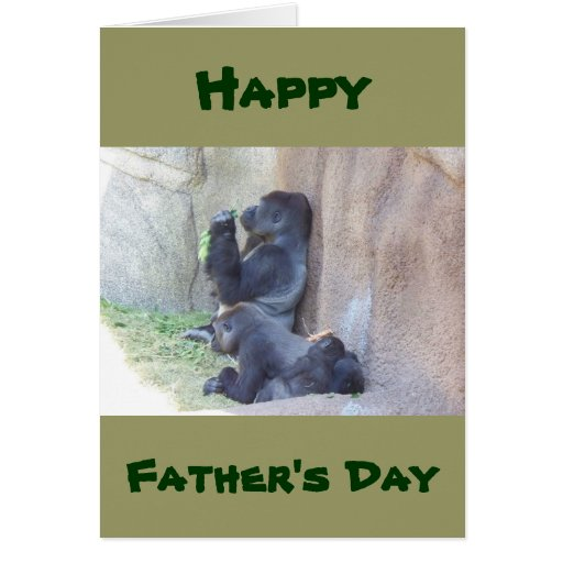 Papa Gorilla and Family, Happy Father's Day Greeting Card ...