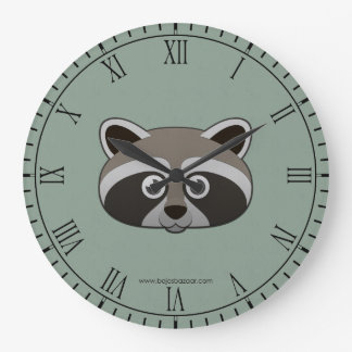 Raccoon Wall Clocks Zazzle