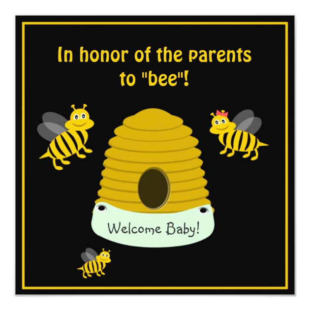 Parents To Bee Bumble Bee Baby Shower Card
