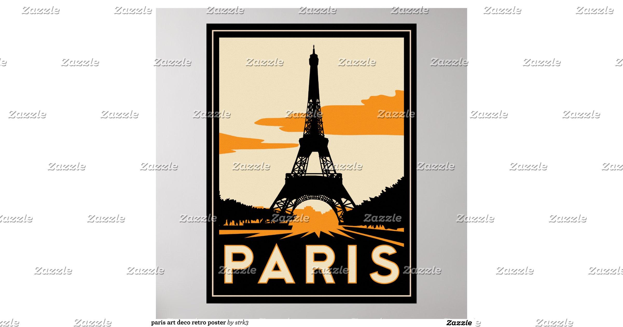 paris art deco retro poster r22735103495846f5bad5daebbac13fb4 wv4 8byvr. Black Bedroom Furniture Sets. Home Design Ideas