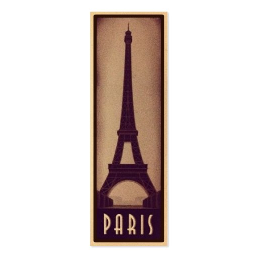 double sided bookmark template - paris bookmark card with eiffel tower silhouette double