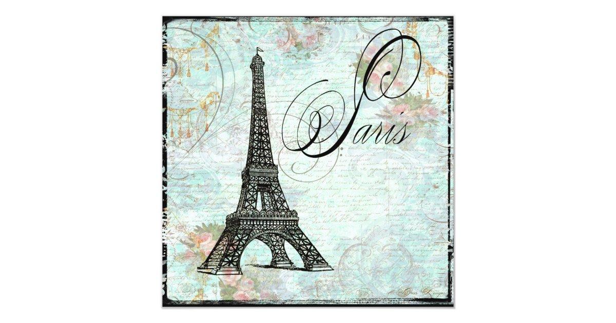Paris La Tour Eiffel Eiffel Tower Invitation | Zazzle