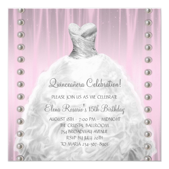 invitation template this beautiful pink quinceanera invitation is