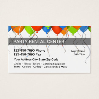 party rentals business cards templates zazzle. Black Bedroom Furniture Sets. Home Design Ideas