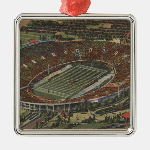 Pasadena, California - The Rose Bowl Metal Ornament