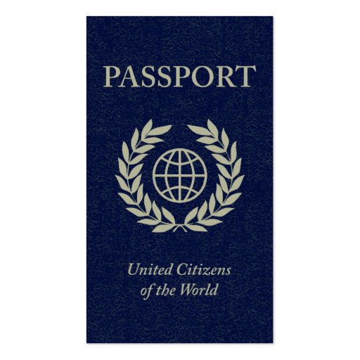 Passport business card templates zazzle for Make your own passport template