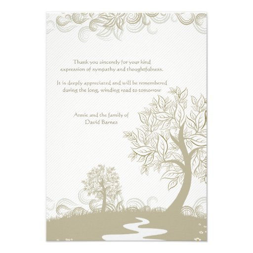 path to tomorrow bereavement thank you card