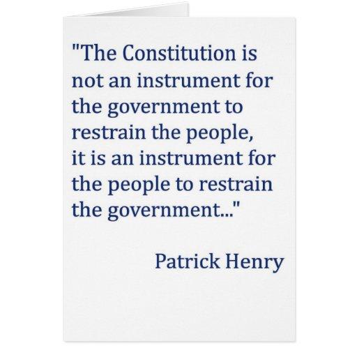 Constitution Quotes: Patrick Henry Constitution Quotes. QuotesGram