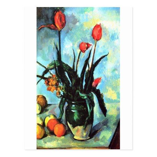 Paul Cezanne Vase Of Tulips Postcard Zazzle