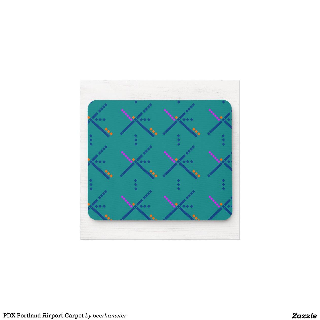 Pdx Portland Airport Carpet Mouse Pad Zazzle