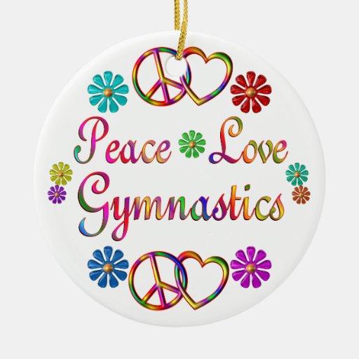 PEACE LOVE GYMNASTICS CHRISTMAS TREE ORNAMENTS   Zazzle