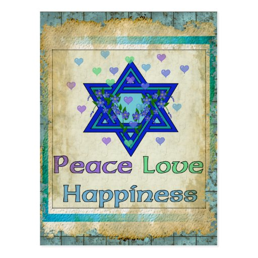 Peace Love Happiness Postcard | Zazzle