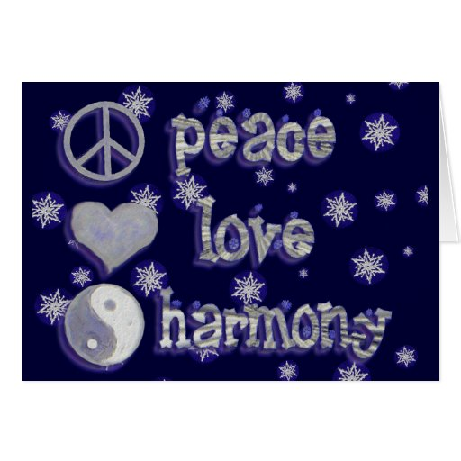 peace love harmony greeting greeting card zazzle. Black Bedroom Furniture Sets. Home Design Ideas