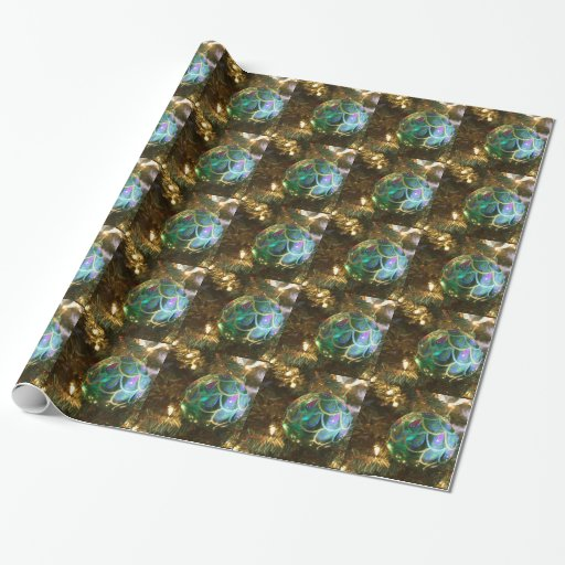 Peacock Christmas Wrapping Paper Zazzle
