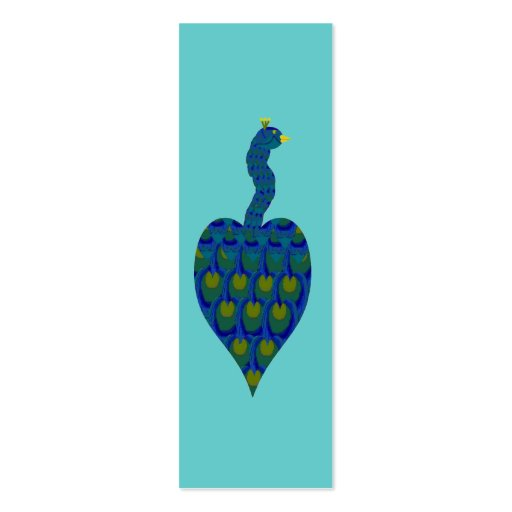 double sided bookmark template - peacock mini bookmarks double sided mini business cards