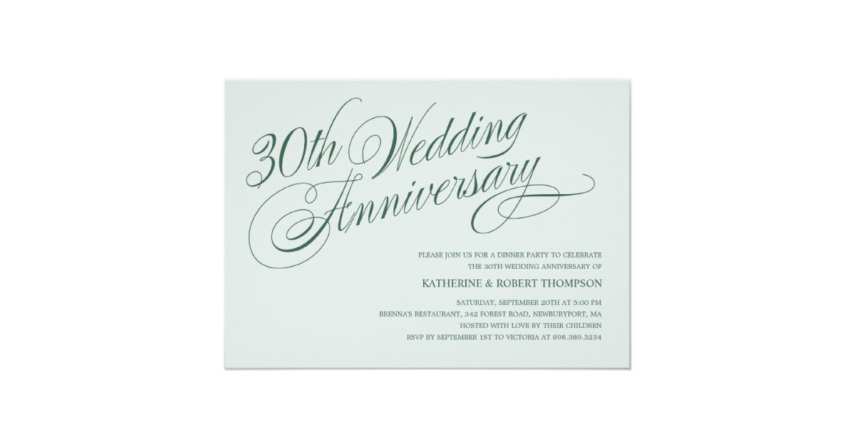 Pearl Gift Ideas For 30th Wedding Anniversary: Pearl 30th Wedding Anniversary Invitations