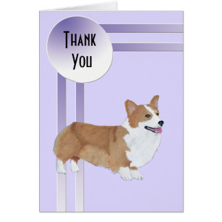Pembroke Welsh Corgi Thank You Cards & Invitations ...  Thank You Cute Corgi Puppy