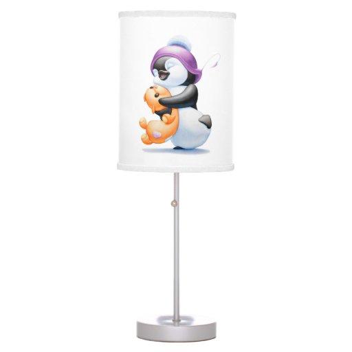 Penguin And Teddy Bear Table Nursery Lamp Zazzle