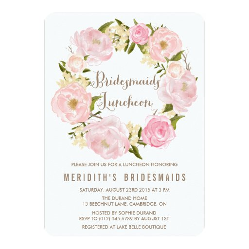 personalized bridesmaids luncheon invitations custominvitations4u com