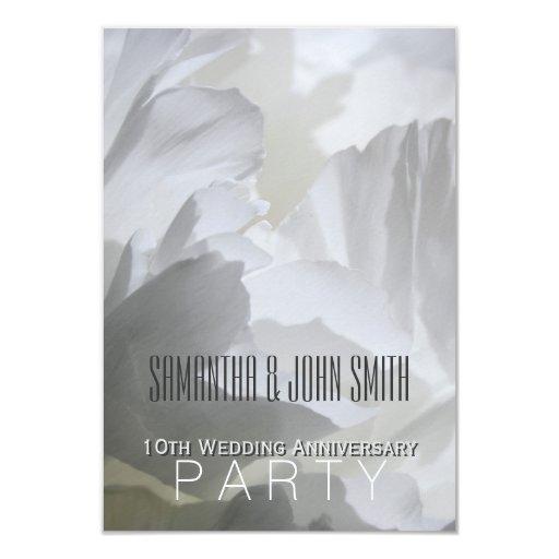 10th Wedding Anniversary Invitations: Peony 10th Wedding Anniversary Party Invitation 1