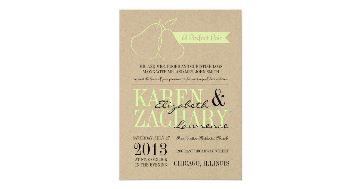 Perfect Wedding Invitations: Perfect Pair Wedding Invitation