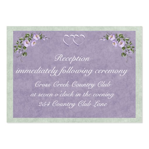 Wedding Invitations Business: Periwinkle Wedding Invitation Reception Insert Business