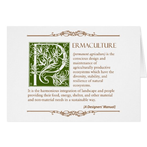 permaculture a definition 1 card zazzle. Black Bedroom Furniture Sets. Home Design Ideas