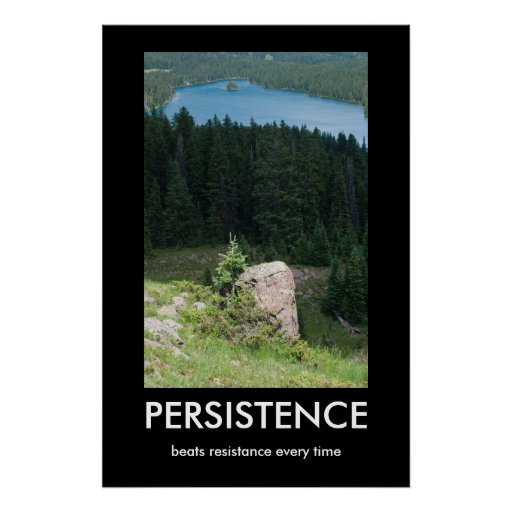 Persistence Motivational Quotes: Persistence Demotivational Poster