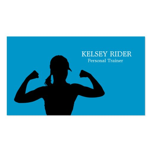 personal trainer gift certificate template - personal fitness trainer business card template zazzle