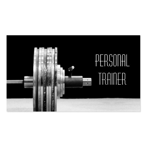 Personal trainer fitness business card for Personal trainer gift certificate template