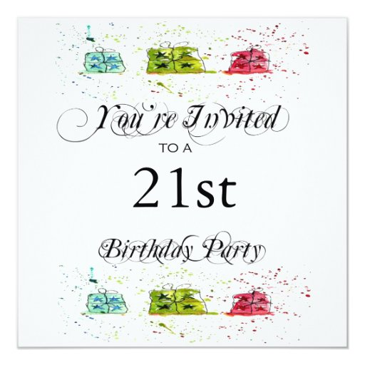 Personalized 21st Birthday Party Invitations