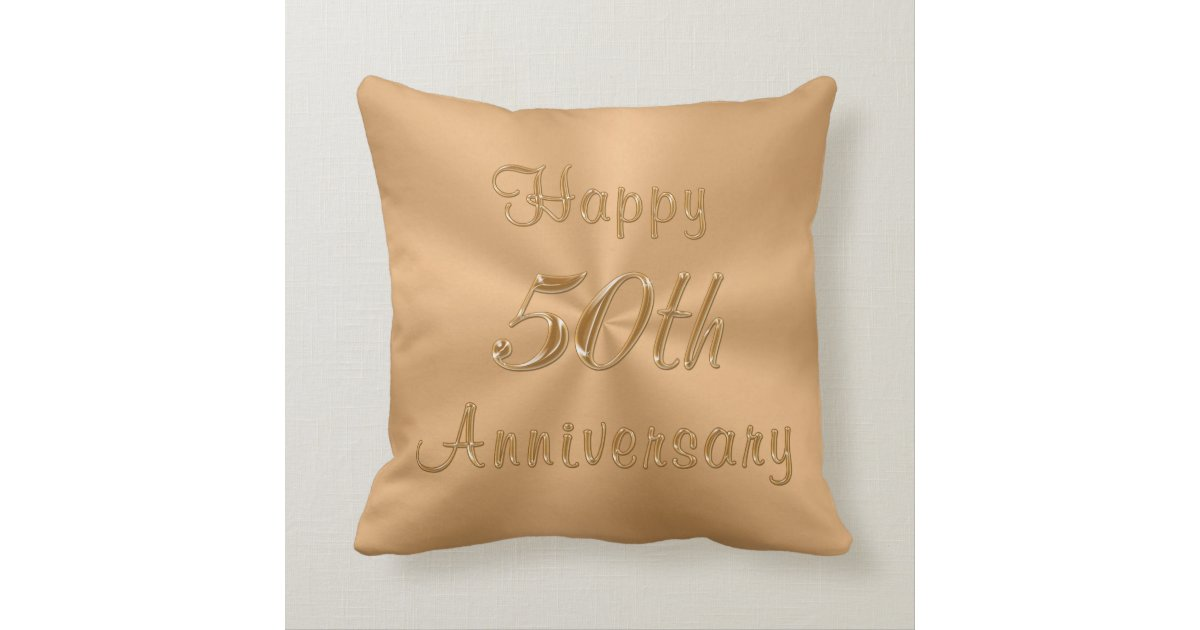 50th Wedding Anniversary Gift Pillows: Personalized 50th Anniversary Pillow Names, Date