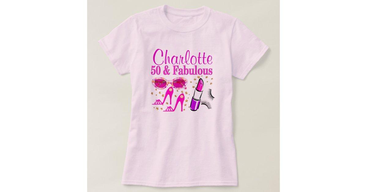 Personalized 50th Birthday Dazzling Diva T Shirt Zazzle