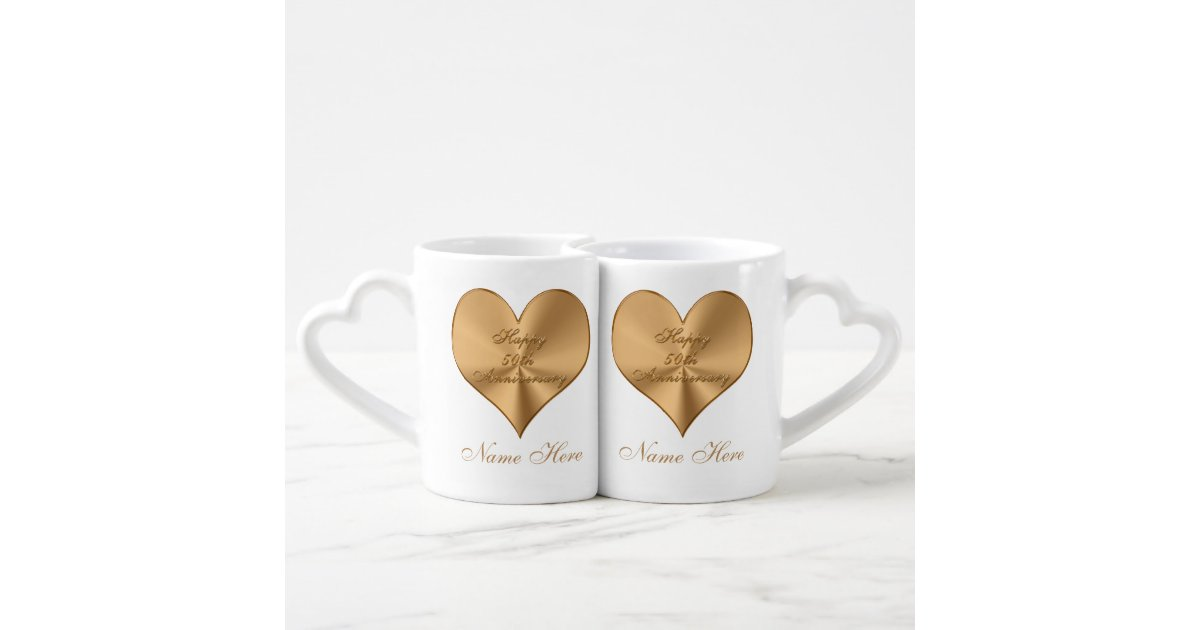 Personalised 50th Wedding Anniversary Gifts: Personalized 50th Wedding Anniversary Gifts MUGS