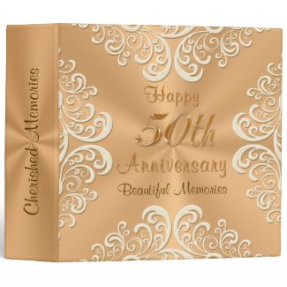 Personalized 50th Wedding Anniversary Photo Album Vinyl Binders