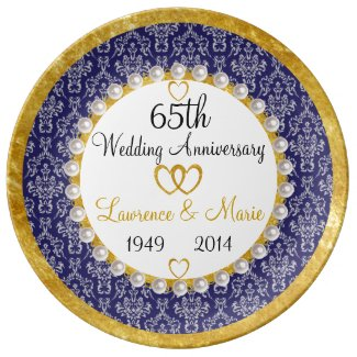 personalized 65th anniversary porcelain plate r87342601e96d41a4b8970f1af4876663 z77n5 325 - Traditional 65th Wedding Anniversary Gifts