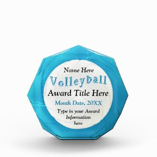Personalized Awards for Volleyball Players, Coach