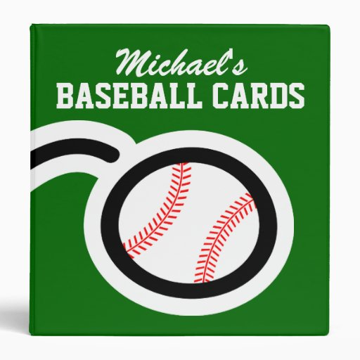 Personalized Baseball Card Binder For Collectors