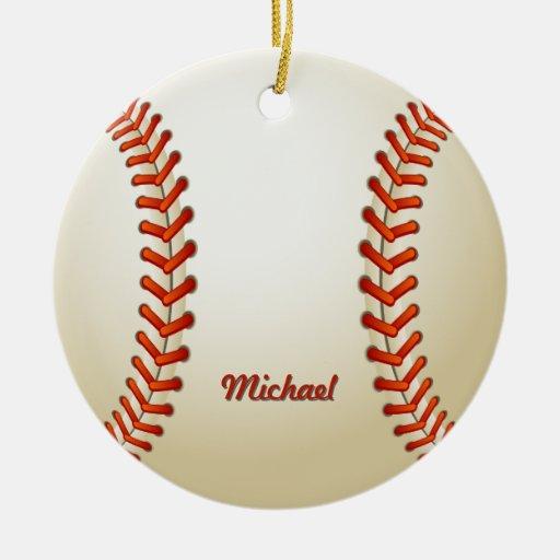Personalized Baseball Christmas Ornament | Zazzle