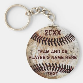 PERSONALIZED Baseball Gifts for Players, Seniors Basic Round Button Keychain
