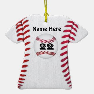 Personalized Baseball Ornaments YOUR NAME & NUMBER CLICK HERE