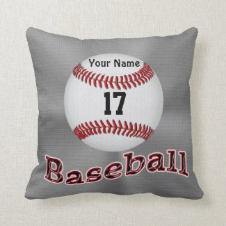 Personalized Baseball Pillows YOUR NAME & NUMBER CLICK HERE