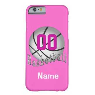 PERSONALIZED Basketball iPhone 6 Cases for Girls Barely There iPhone 6 Case