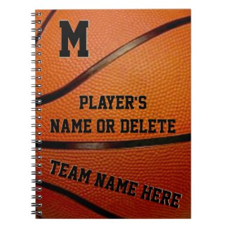 PERSONALIZED Basketball School Supplies Team Gifts Note Book