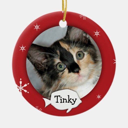 Personalized Cat/Pet Photo Holiday Christmas Ornaments ...