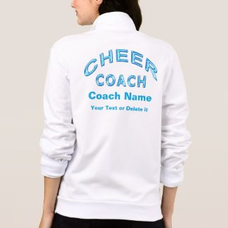 Personalized Cheer Coach Jackets with 3 TEXT BOXES
