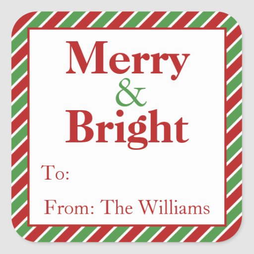 Personalized Christmas Gift Tags: Personalized Christmas Holiday Gift Tag Stickers