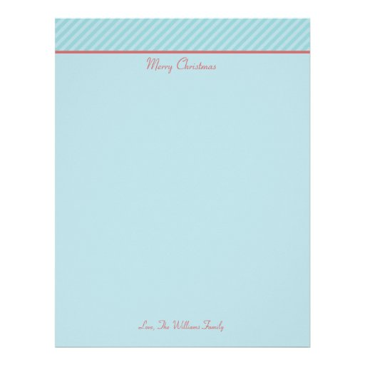 Personalized Papers Executive Stationery: Personalized Christmas Holiday Stationary Paper Letterhead