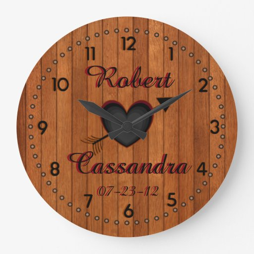 Personalized Country Style Faux Wood Wall Clock Zazzle
